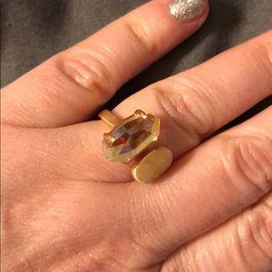 Kendra Scott Sz 6 Pink Iridescent Gold Split Ring